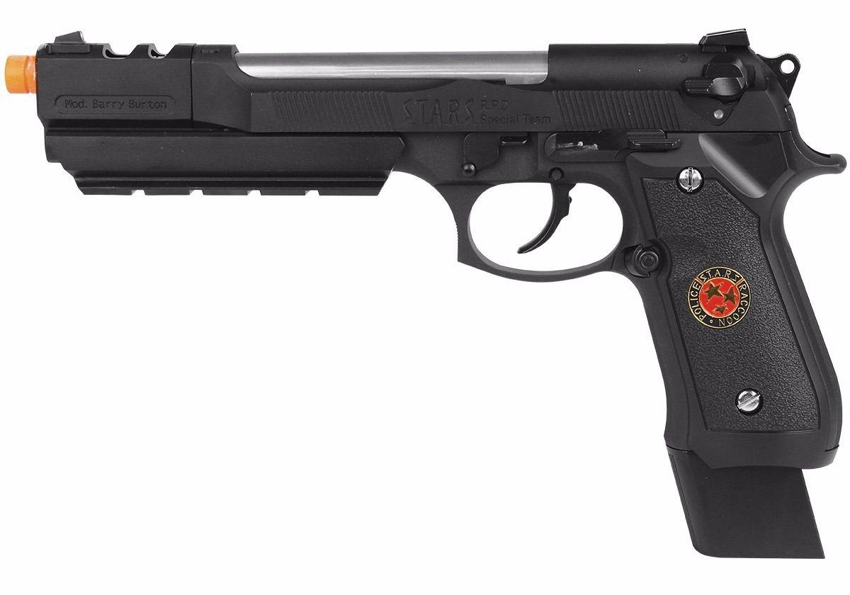 Pistola Airsoft WE M92 Bio Hazard Barry Burton Bk V1