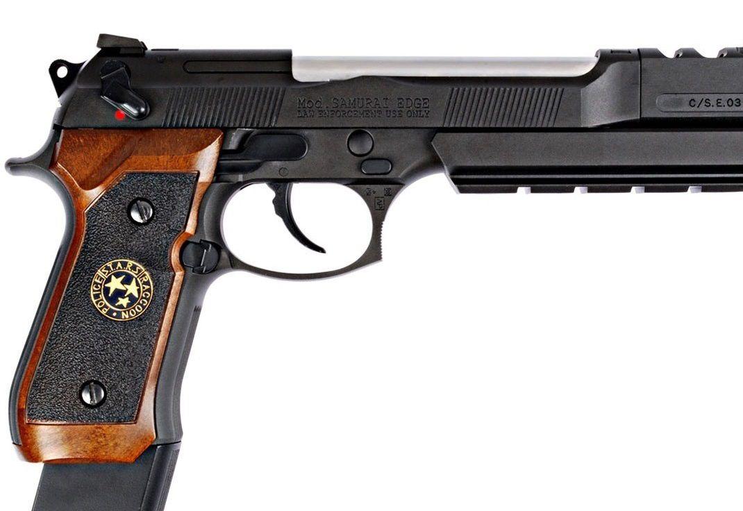 Pistola Airsoft WE M92 Bio Hazard Barry Burton Bw V1