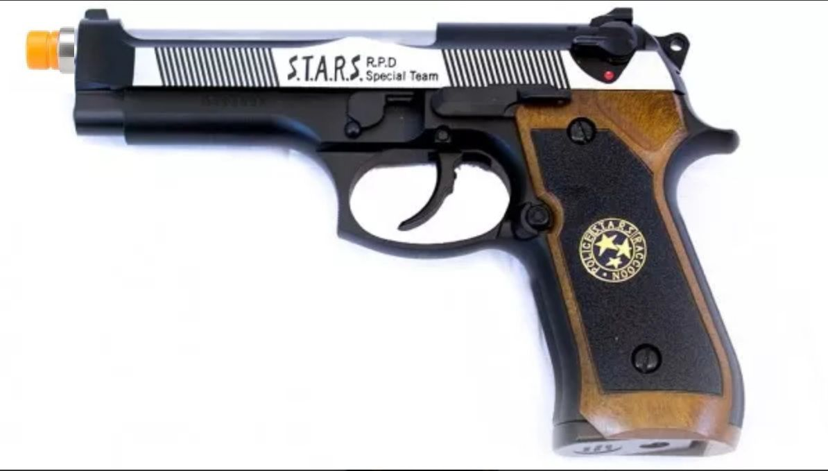 Pistola Airsoft WE M92 Bio Hazard Virus Dual Tone V1