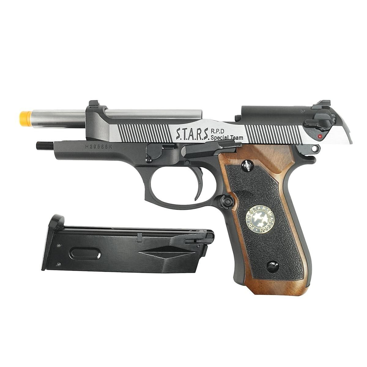Pistola Airsoft WE M92 Bio Hazard Virus Dual Tone V2