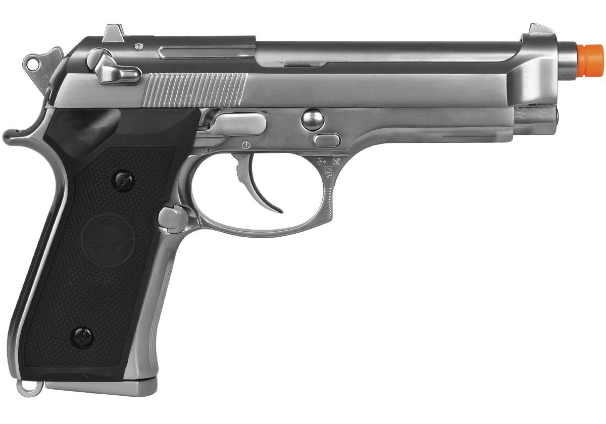 Pistola Airsoft WE M92 Cromada V1