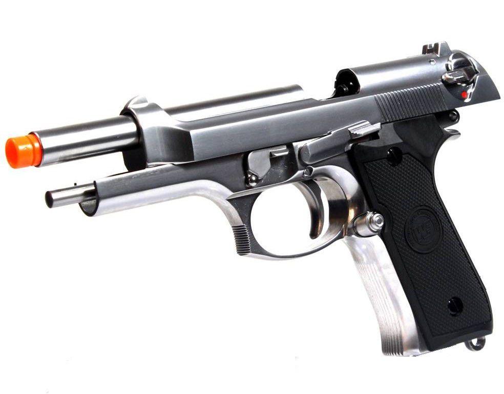 Pistola Airsoft WE M92 Cromada V2