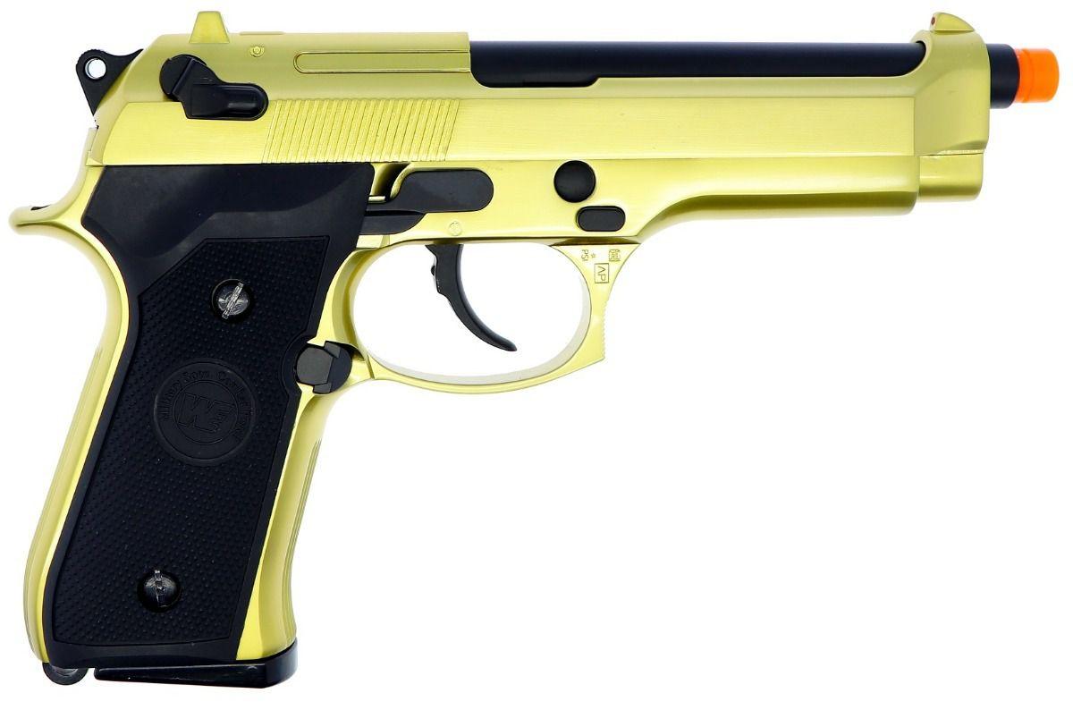 Pistola Airsoft WE M92 Dourada V1