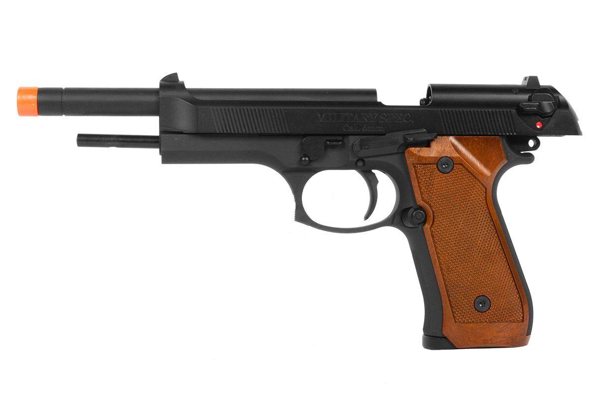 Pistola Airsoft WE M92L Longa Preta