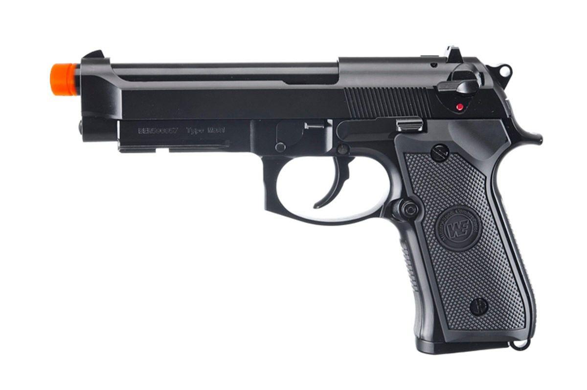 Pistola Airsoft WE M9a1 Preta V2