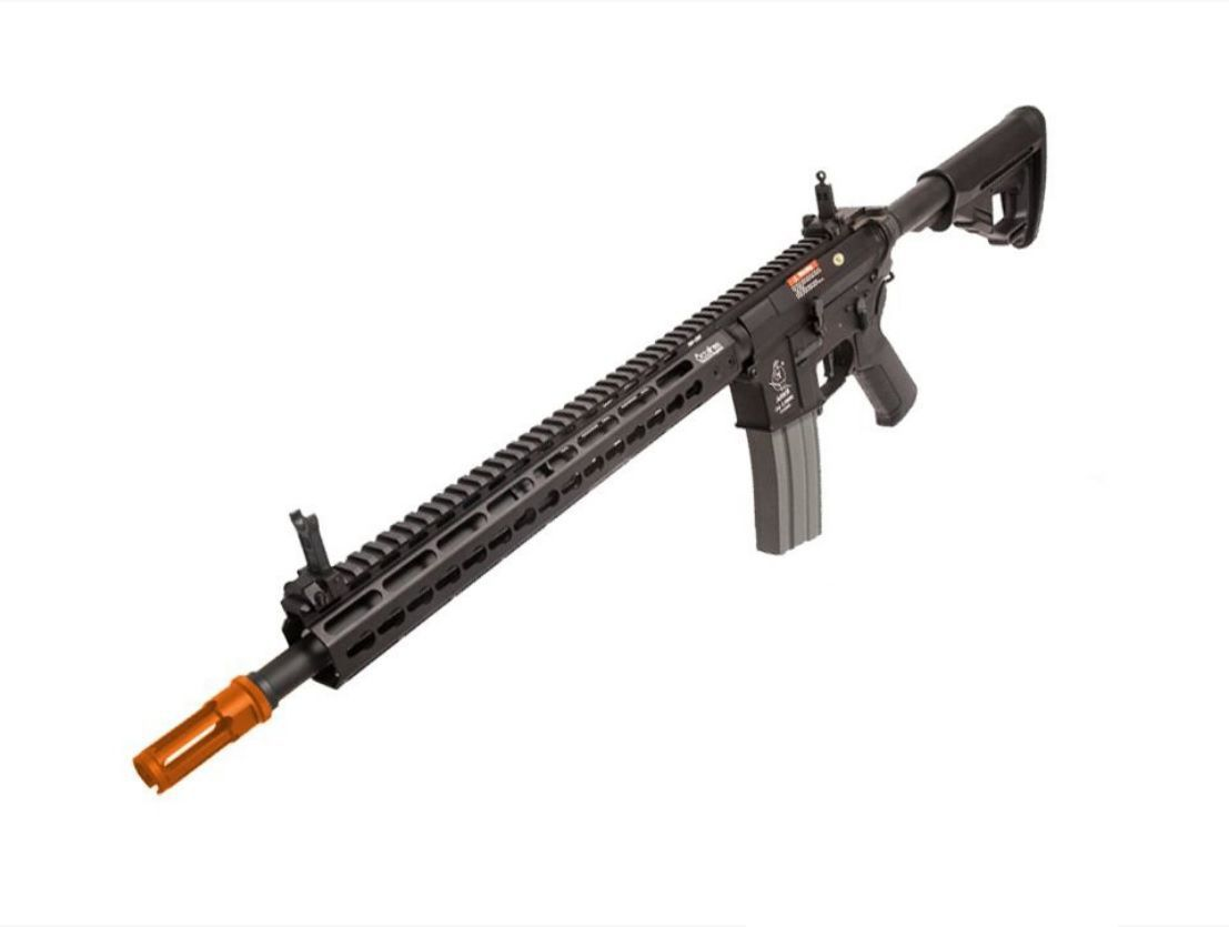Rifle Airsoft Ares Octarms Km13 preta Full Metal