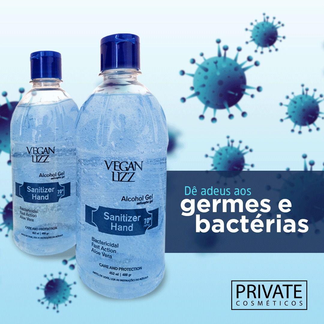 Alcool Gel Higienizador Vegan Lizz 70% - 452ml