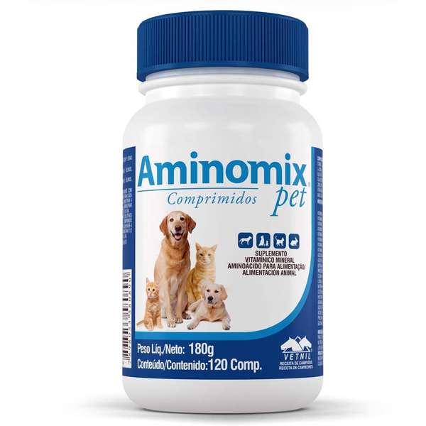 Aminomix Pet Suplemento Vitamínico Vetnil 120 Comprimidos Palatáveis