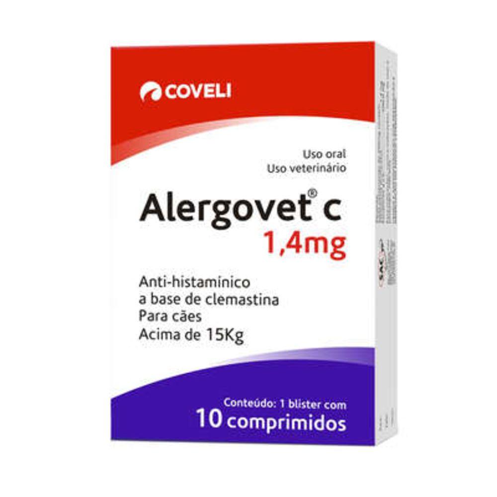 Antialérgico Coveli Alergovet C 1,4mg Para Cães E Gatos