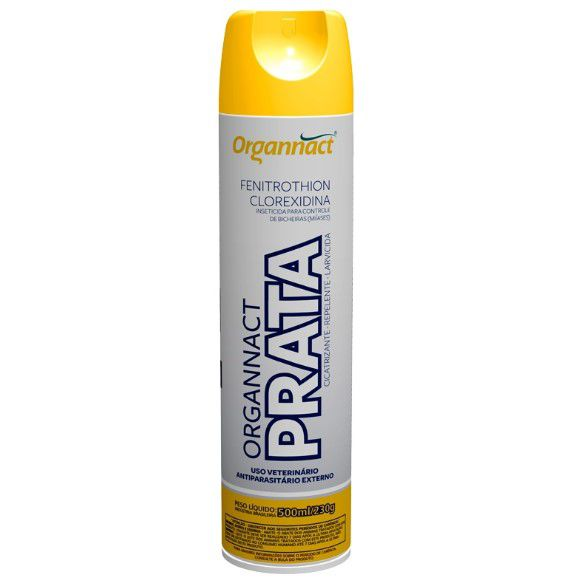 Antibacteriano cura bicheira Organnact Prata Spray 200 ml