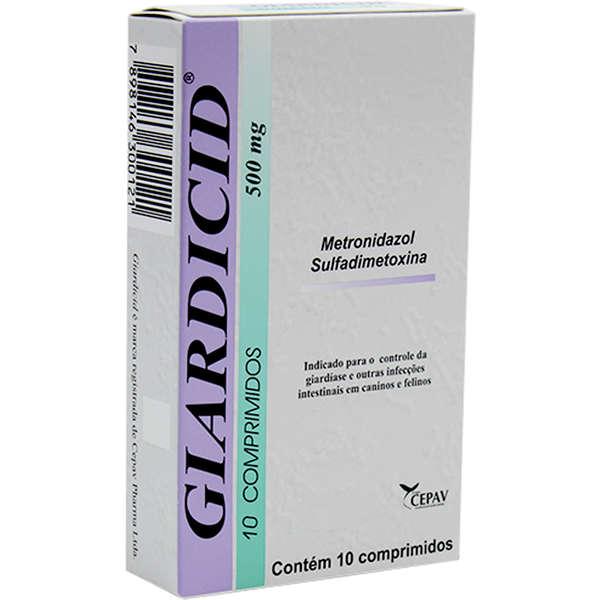 Antibiótico Giardicid 500 mg 10 Comprimidos