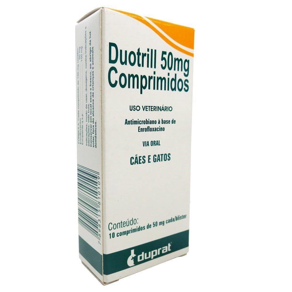 Antimicrobiano DuoTrill 50 mg Duprat 10 Comprimidos