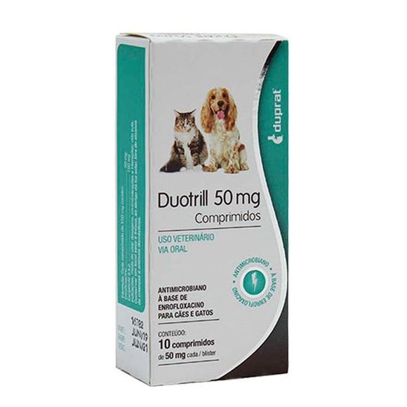 Antimicrobiano DuoTrill 50 mg Duprat Cartela Avulsa com 10 Comprimidos