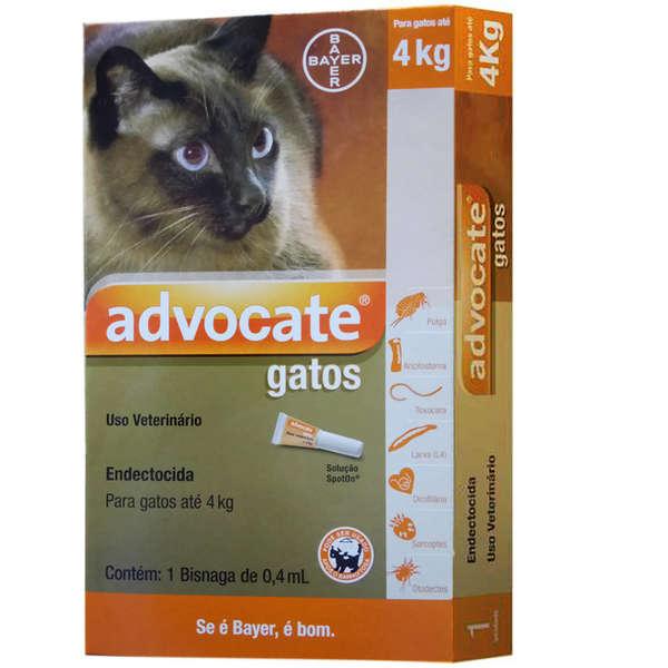 Antipulgas Advocate para Gatos ate 4 kg Bayer 0,40 mL
