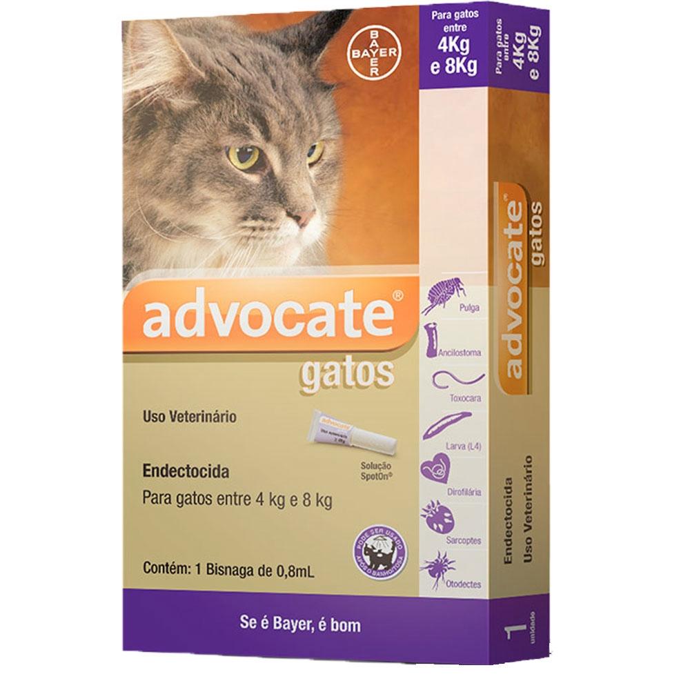 Antipulgas Advocate para Gatos de 4 a 8 kg Bayer 0,8 mL