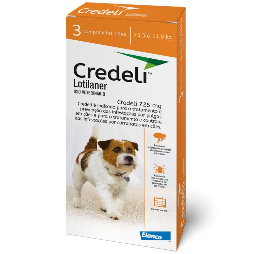 Antipulgas Carrapatos Credeli 03 Comprimidos Cães 5,5 A 11kg