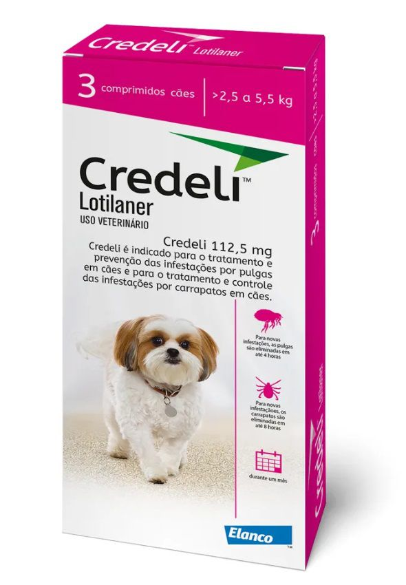 Antipulgas Credeli 112,5mg Cães 2,5 a 5,5kg Elanco