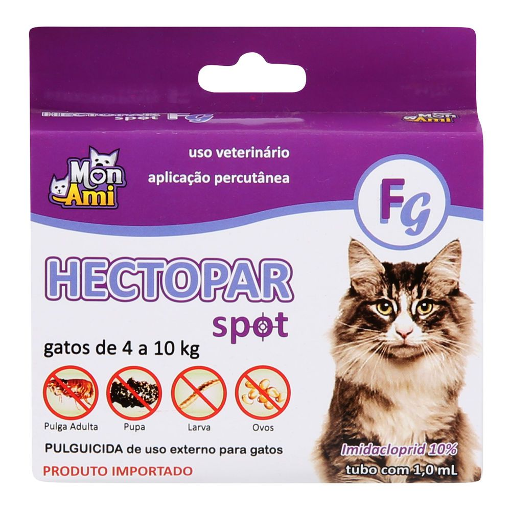 Antipulgas Hectopar Mon Ami 1ml - Gatos De 4 A 10kg