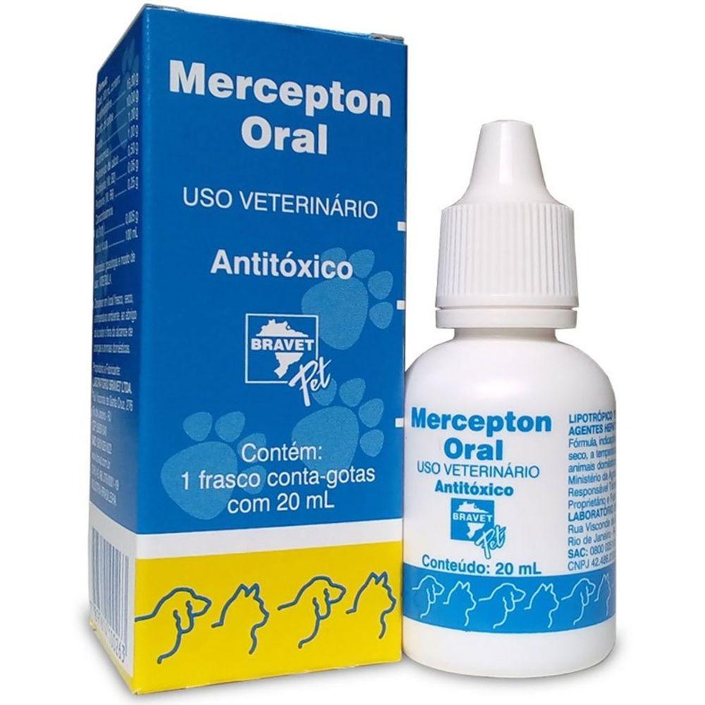 ANTITÓXICO Mercepton Oral Bravet Para Cães e Gatos 20ml