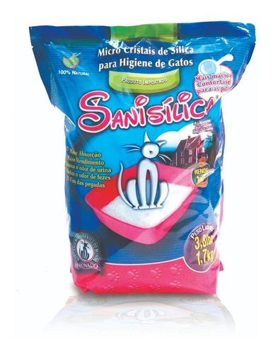 Areia Sílica Higiênica Fina Sanitária American Pets Sanisílica 1,7 Kg