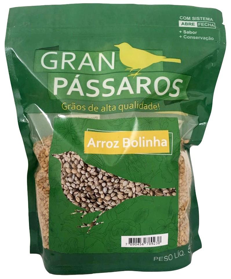 Arroz Bolinha Gran Passaros 500g