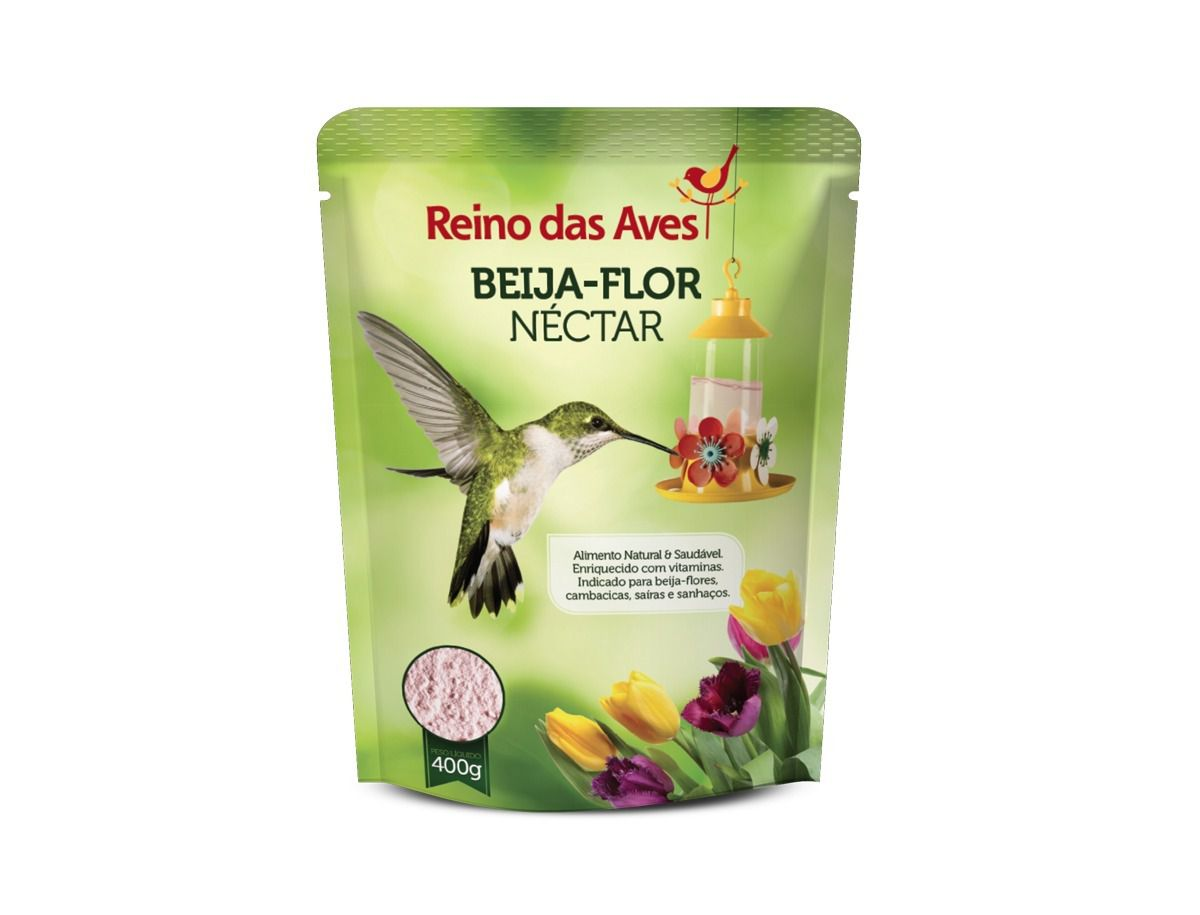 Néctar para Beija-flor 400g Refil - Reino das Aves