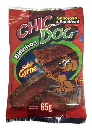 Bifinho Chic Dog Carne 65g