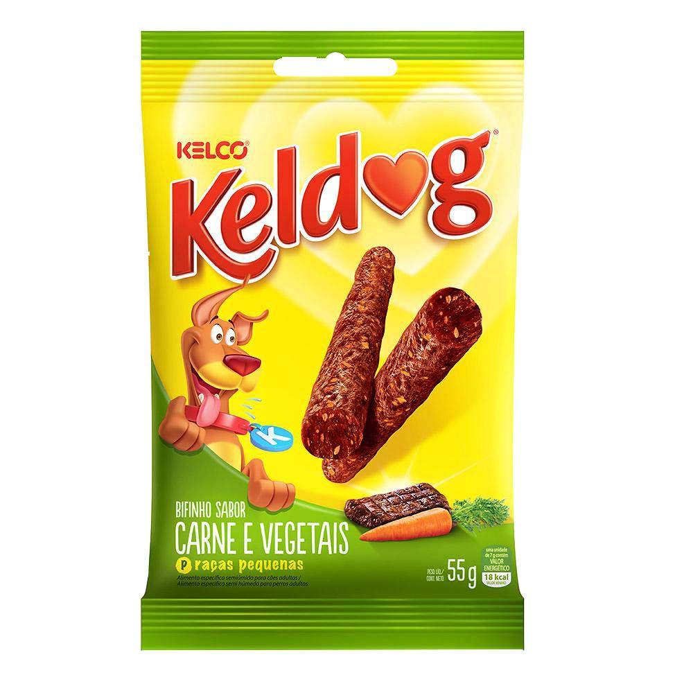 Petisco Bifinho Keldog Sabor Carne e Vegetais 55g