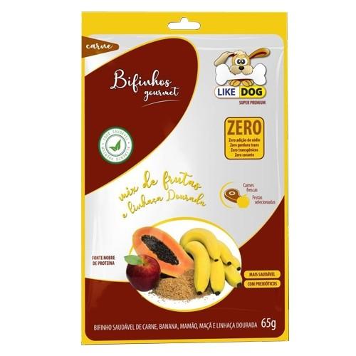 Bifinho Like Dog Carne com Mix de Frutas e Linhaça Dourada 65g