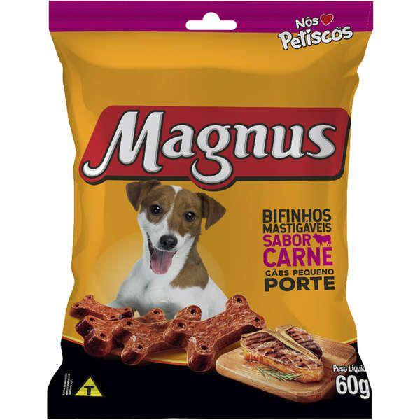 Bifinho Magnus para Cães de  Porte Pequeno Sabor Carne 60g
