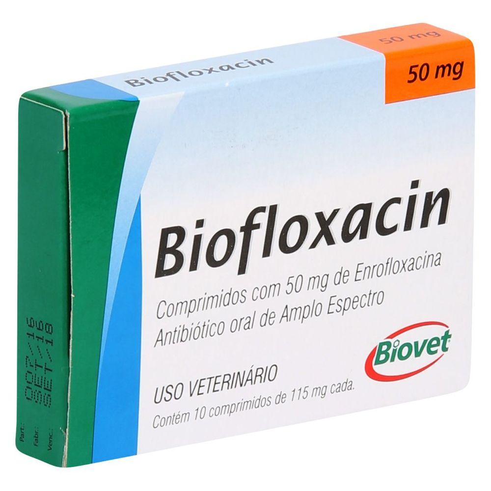 Biofloxacin Biovet 50mg com 10 Comprimidos