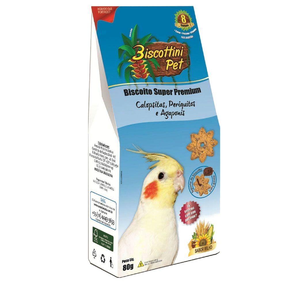 Biscoito Biscottini Pet Super Premium Calopsitas - 80g