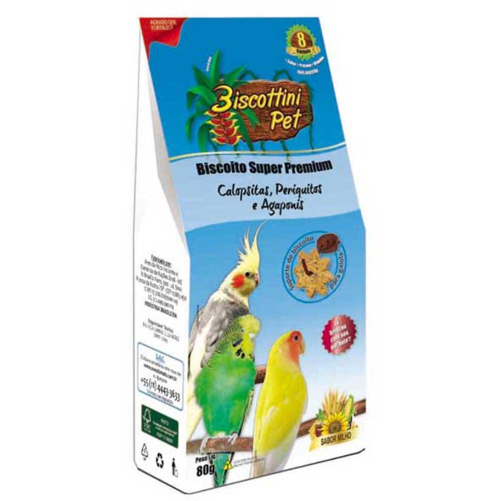 Biscoito Biscottini Pet Super Premium Papagaios E Araras - 80g