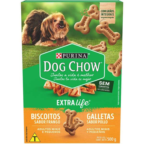 BISCOITO DOG CHOW CARINHOS INTEGRAL MINI 500G