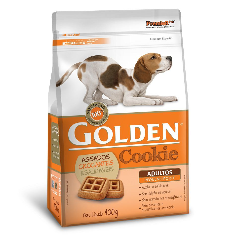 Cookie Golden para Cães Adultos de Porte Pequeno 400g