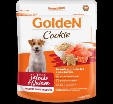 Biscoito Golden Cookie Salmão e Quinoa para Cães Adultos Pequeno Porte 350g
