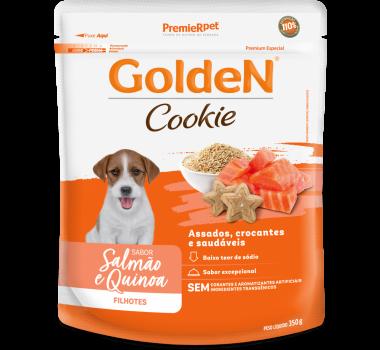 Biscoito Golden Cookie Salmão e Quinoa para Cães Filhotes Pequeno Porte 350g