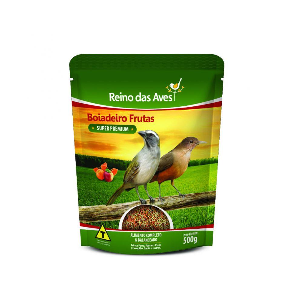 Boiadeiro Frutas Premium para Aves 500g - Reino das Aves