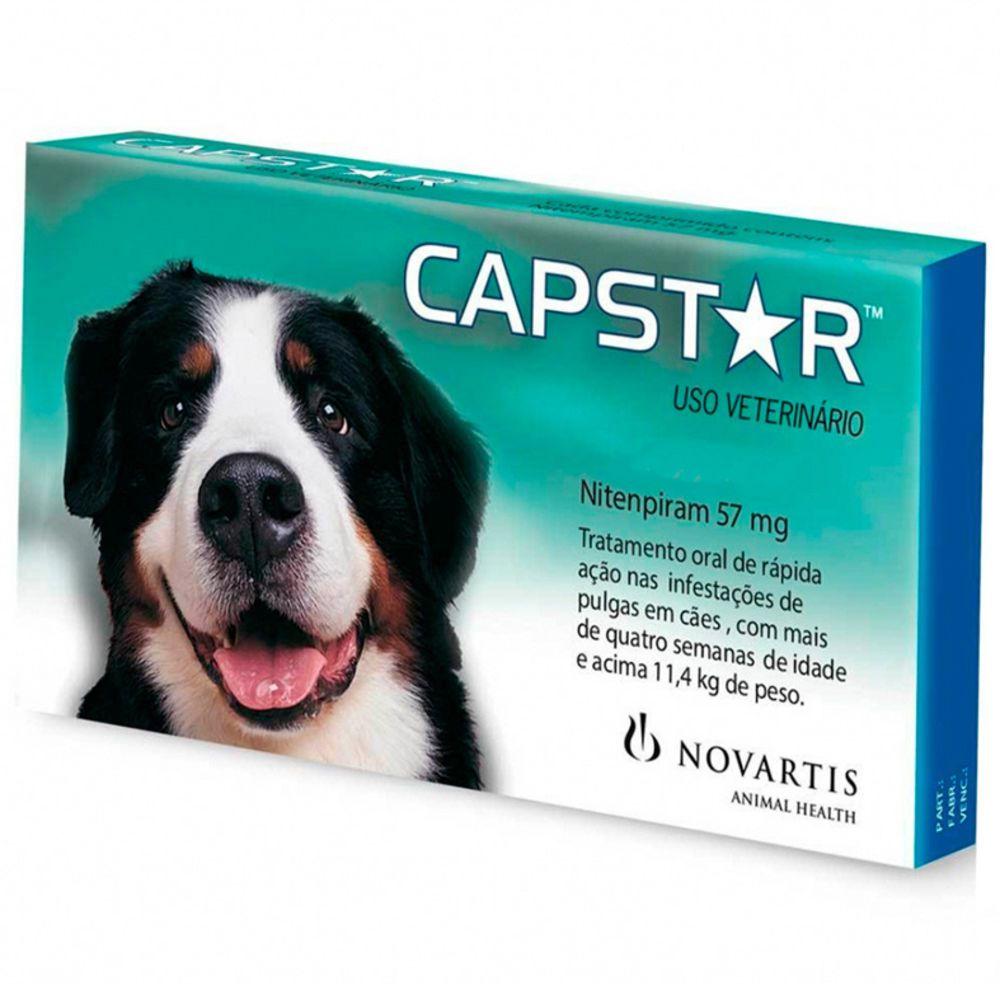 Capstar Novartis 57mg Cães De 11kg A 57kg 6 Comprimidos