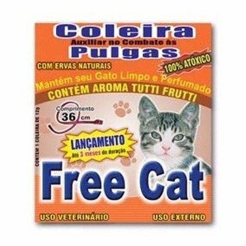 Coleira Anti Pulgas Gatos Free Cat