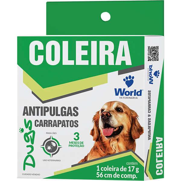 Coleira Antipulgas E Carrapatos Dugs Para Cães. 03 Meses De Proteção.