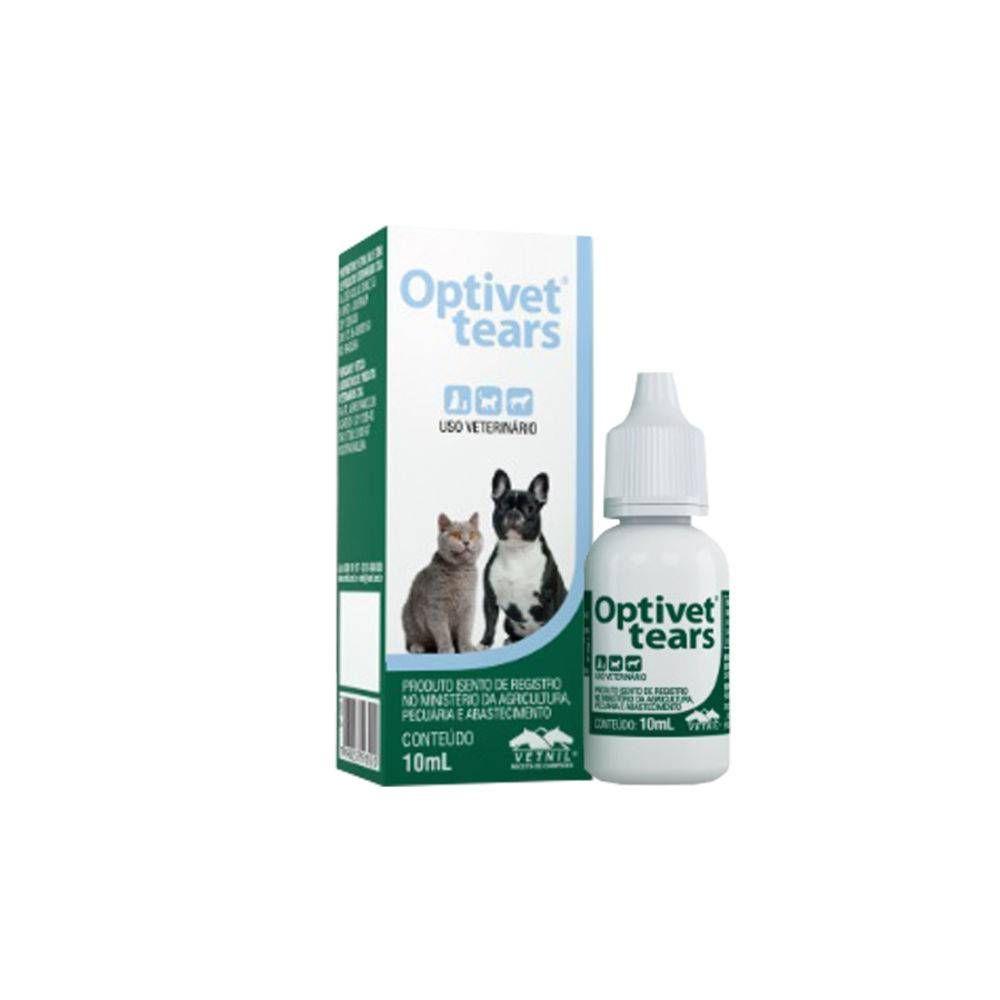 Colírio Lubrificante Ocular Vetnil Optivet Tears 10 Ml Para Cães E Gatos