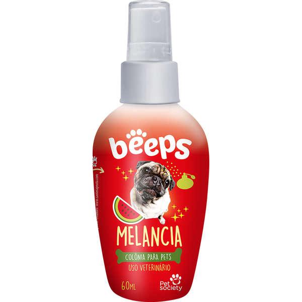 Colònia para Pets Cães e Gatos Beeps Melancia - 60 mL