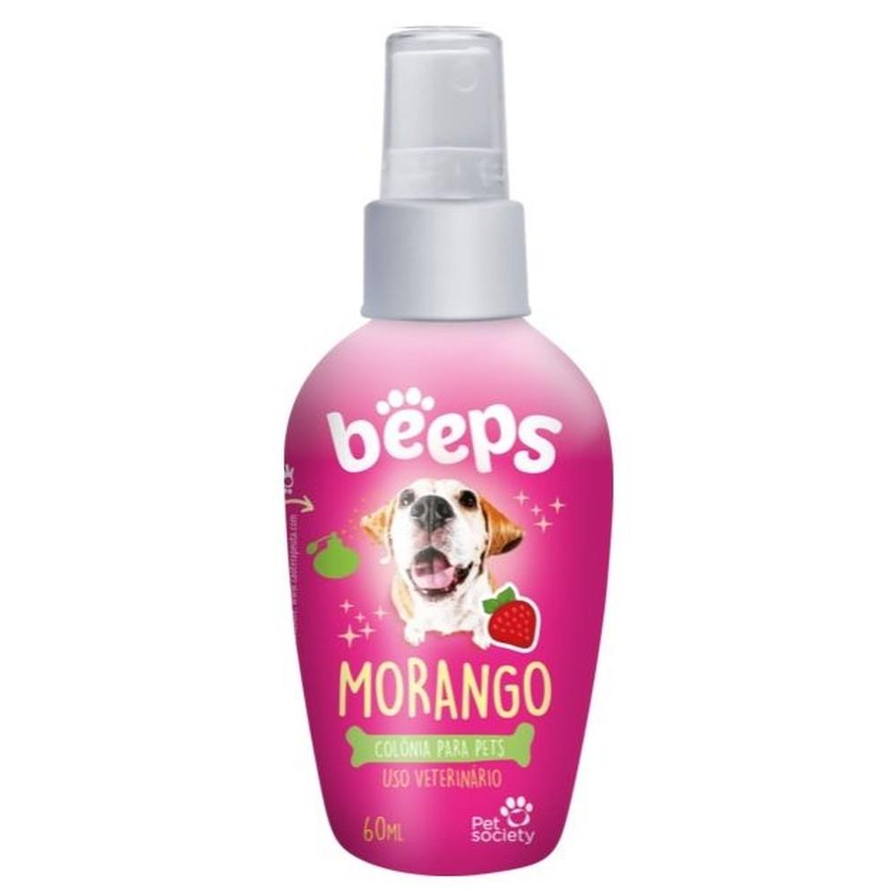 Colònia para Pets Cães e Gatos Beeps Morango - 60 mL