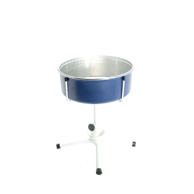 Comedouro Bebedouro Único Antiformiga Ajustável Médio Cães - Azul