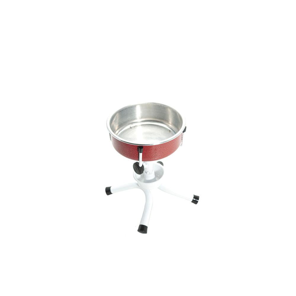 Comedouro Bebedouro Único Antiformiga Ajustável Pequeno Cães - Vermelho