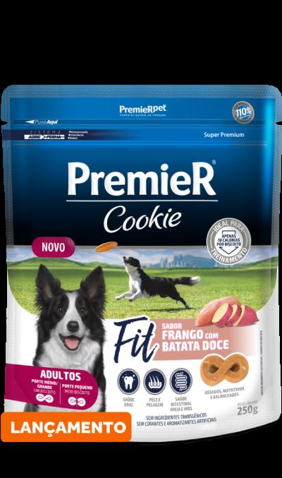 Cookie Premier para Cães Adultos Fit Sabor Frango com Batata Doce 250g