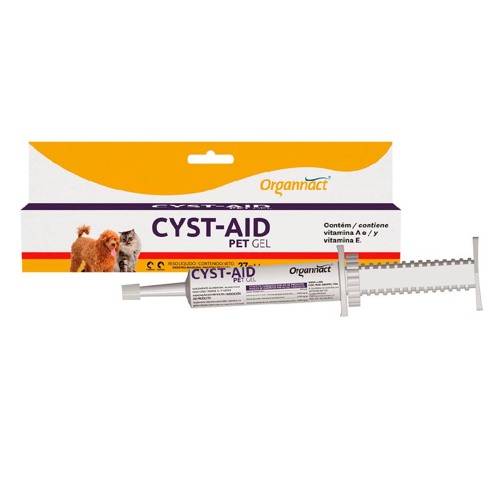 Cyst-Aid Pet Gel Suplemento Alimentar para Cães e Gatos 27ml Organnact