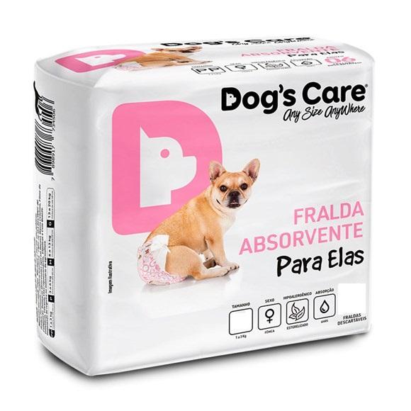 Dogs Care Fralda Descartável 6 Unidades Fêmea P