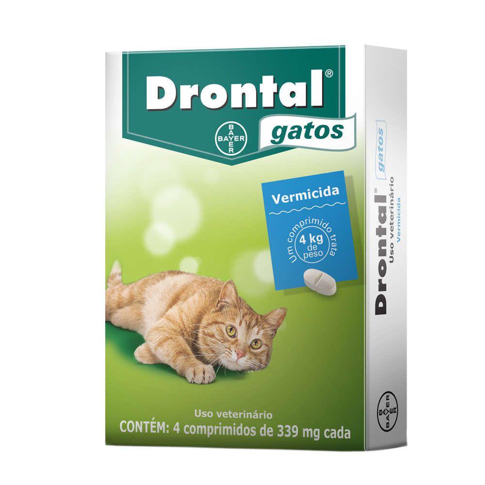 Drontal Bayer Vermífugo para Gatos até 4 Kg - 4 Comprimidos